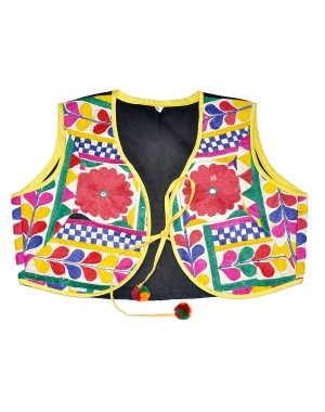 Kutch Qasab White And Yellow Jacket With Dori KQ21