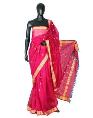 Kolkata Flamingo Saree KSC560