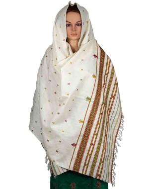 Megha Art & Crafts Woolen Hand Wooven Shawl MAC111