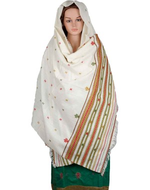 Megha Art & Crafts Woolen Hand Wooven Shawl MAC114