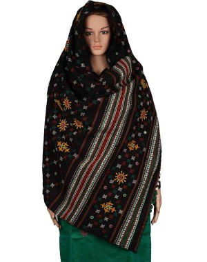 Megha Art & Crafts Woolen Hand Wooven Shawl MAC116