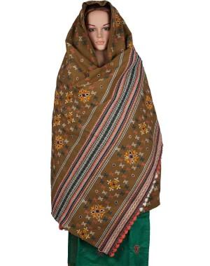 Megha Art & Crafts Woolen Hand Wooven Shawl MAC117
