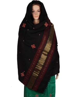Megha Art & Crafts Woolen Hand Wooven Zari Shawl MAC120