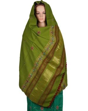 Megha Art & Crafts Woolen Hand Wooven Zari Shawl MAC123