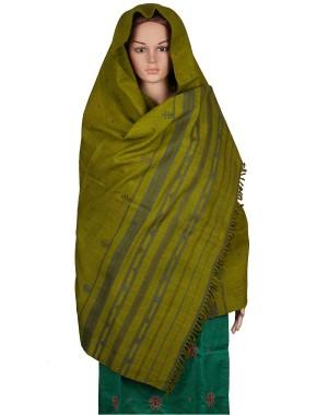 Megha Art & Crafts Woolen Hand Wooven Shawl MAC124
