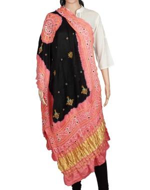 Megha Art & Crafts Acrylic Wool With Zari Hand Wooven Shawl MAC130