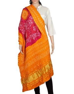 Megha Art & Crafts Acrylic Wool With Zari Hand Wooven Shawl MAC132