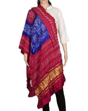 Megha Art & Crafts Acrylic Wool With Zari Hand Wooven Shawl MAC133