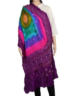 Megha Art & Crafts Acrylic Wool With Zari Hand Wooven Shawl MAC134