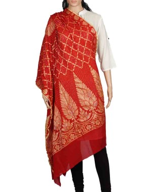 Megha Art & Crafts Acrylic Wool With Zari Hand Wooven Shawl MAC137