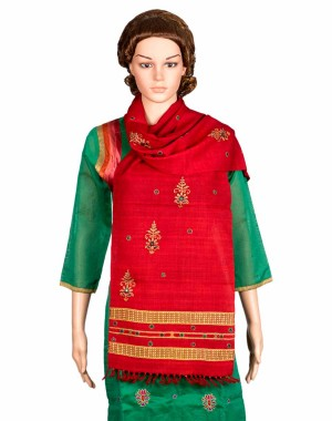 Megha Art & Crafts Woolen Stole With Kutch Embroidery MAC75