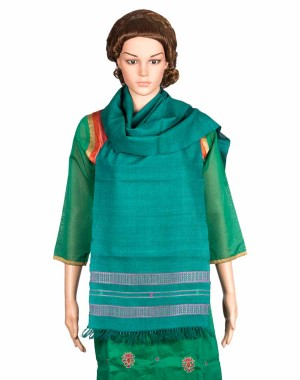 Megha Art & Crafts Woolen Stole With Kutch Embroidery MAC85