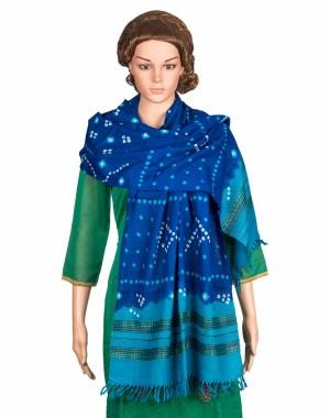 Megha Art & Crafts Woolen Stole With Bandhej (Tie & Tie) MAC86