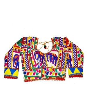 Kutch Qasab White Embroidered Full Sleeve Blouse KQ01