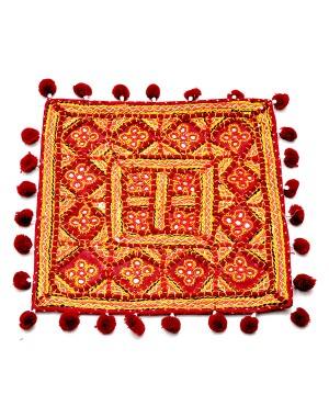 Kutch Qasab Five Mirror Cushion Cover KQ59