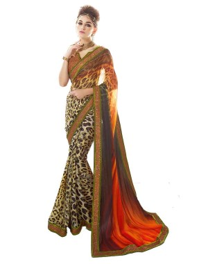 Nayonika Amazing Multi Colored Designer Saree 234
