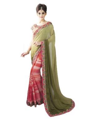 Nayonika Two Toned Trendy Designer Saree 238