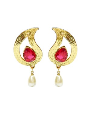 Ishi Collection Metallic Brass Earring IC100