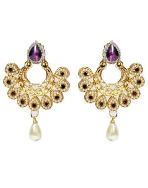 Ishi Collection Metallic Brass Earring IC103