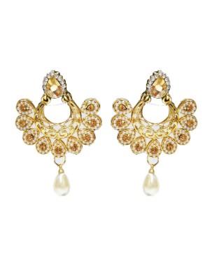 Ishi Collection Metallic Brass Earring IC104
