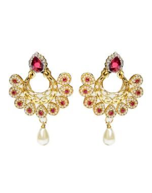 Ishi Collection Metallic Brass Earring IC105