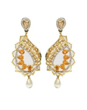 Ishi Collection Metallic Brass Earring IC109