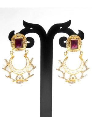 Ishi Collection Metallic Brass Earring IC13