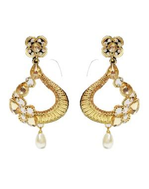 Ishi Collection Metallic Brass Earring IC134