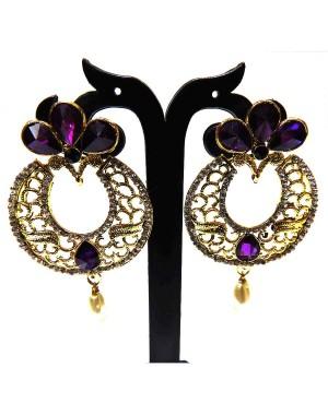 Ishi Collection Metallic Brass Earring IC25