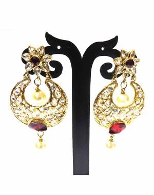 Ishi Collection Metallic Brass Earring IC39