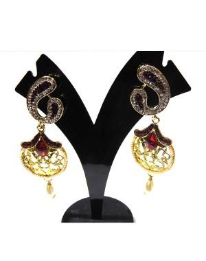 Ishi Collection Metallic Brass Earring IC41