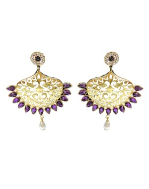 Ishi Collection Metallic Brass Earring IC45