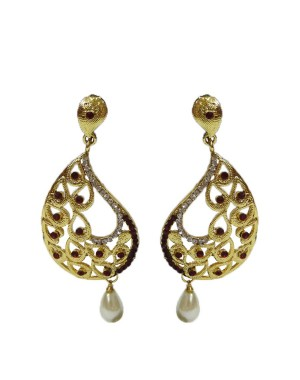 Ishi Collection Metallic Brass Earring IC49