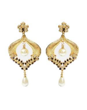 Ishi Collection Metallic Brass Earring IC52