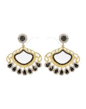 Ishi Collection Metallic Brass Earring IC57