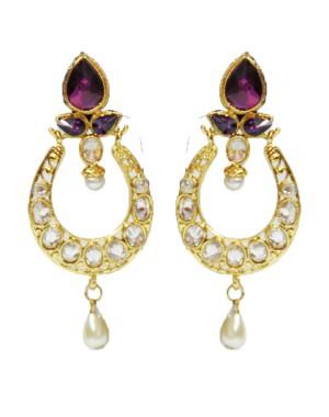 Ishi Collection Metallic Brass Earring IC73