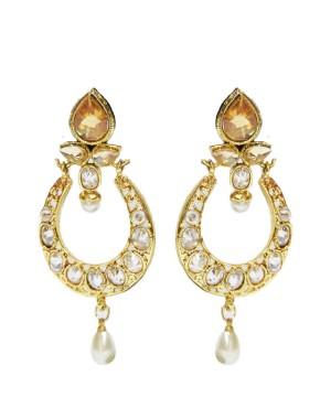 Ishi Collection Metallic Brass Earring IC75
