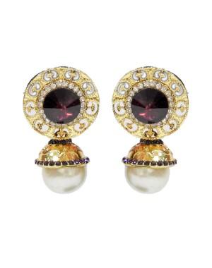 Ishi Collection Metallic Brass Earring IC80