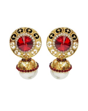 Ishi Collection Metallic Brass Earring IC81