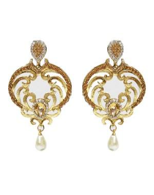 Ishi Collection Metallic Brass Earring IC89