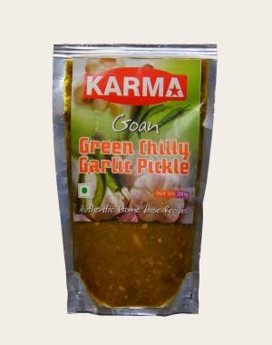 Karma's Green Chilly Garlic Pickle KF260