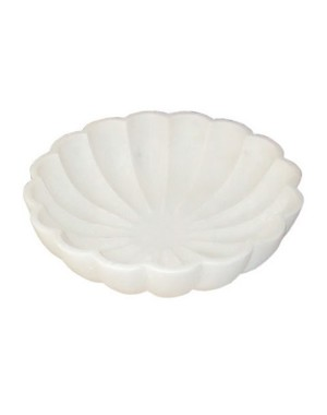 White Marble Bowl/Urli HH67