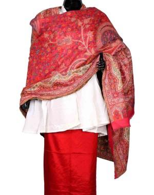 Light Pink Himroo Shawl HS26
