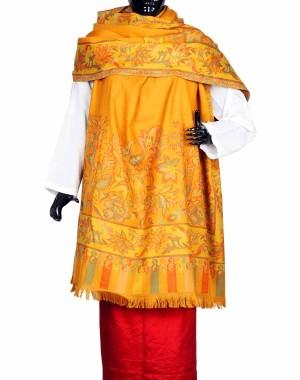 Yellow Himroo Shawl HS28