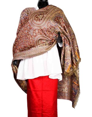 Brown Himroo Shawl HS30
