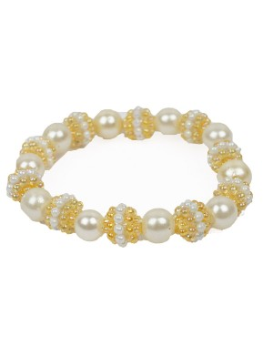 White And Golden Bracelet AK37