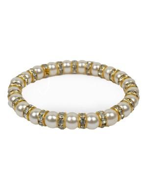 White And Golden Diamond  Bracelet AK38