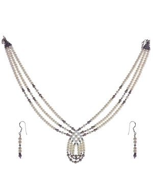 Silver Necklace Set JM46