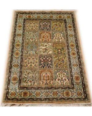 Multicolor Qum Kashmiri Carpet KCE01