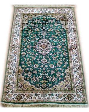 Emerald Green Roudbar Kashmiri Carpet KCE10